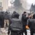 Под Радой вспыхнули стычки с полицией, активисты зажгли шины